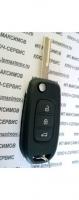 Корпус ключа выкидушка RENAULT NEW 3кн(KOLEOS,CAPTUR)